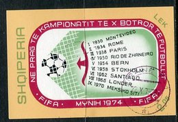 ALBANIA 1973 Football World Cup Block  Used.  Michel Block 49 - Albanie