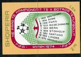 ALBANIA 1973 Football World Cup Block MNH / **.  Michel Block 49 - Albanie