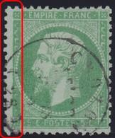 N°20 Un Filet Complètement Absent, Cad De Crozon (28), TB - 1862 Napoleone III