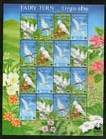 ASCENSION 1989  FEUILLET OISEAUX-WWF  YVERT N°747/50  NEUF MNH** - Ascension (Ile De L')
