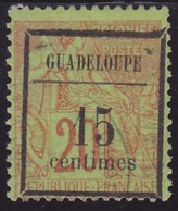 Guadeloupe N° 4 Neuf *  - Voir Verso & Descriptif - - Guadeloupe (1884-1947)