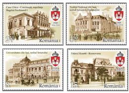 Romania 2017 / Iasi, City Of The Great Union / Set 4 Stamps+labels - 1948-.... Repúblicas