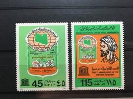 (495) LIBYA 1980 : Sc# 871-872 MNH VF SCHOOL SCIENTIFIC EXHIB AVICENNA PHYSICIAN - Libya