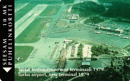 FINLAND / Turku Airport P13c 100 Ex. Mint - Finland