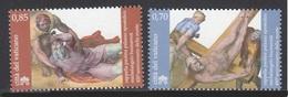 VATICANO 2014 - 450 ANIVERSARIO DE MIGUEL ANGEL - SERIE DE 2 SELLOS - Unused Stamps