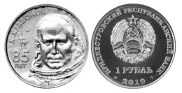 PMR Transnistrija, 2019 Space, A.Leonov, 1 Rbl Rubel UNC - Rusia