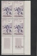 Coin Daté 1074 ** 11/6/56    Trace De Charnière  2 Sur La Bande - 1950-1959
