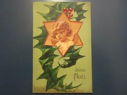 Carte Postale En Relief Joyeux Noël - Weihnachten
