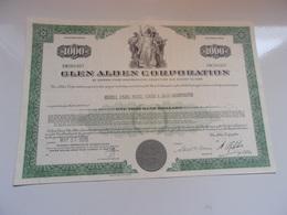 GLEN ALDEN CORPORATION (USA) - Shareholdings