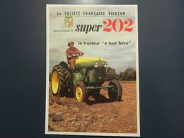 Carte Postale Publicité Tracteur Vierzon - Tractores