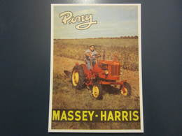 Carte Postale Publicité Tracteur MASSEY HARRIS - Tracteurs