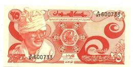 BILLET SOUDAN 25 PIASTRES - Soudan