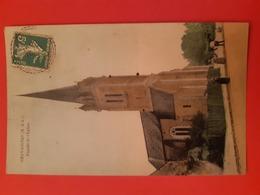 CPSM. CHAVAIGNES (M. Et L.) Façade De L'Eglise - Francia