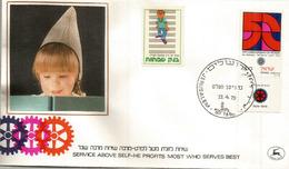 ISRAEL. 50e Anniversaire Du Rotary Club D'Israel.  FDC 1979 - Rotary, Lions Club