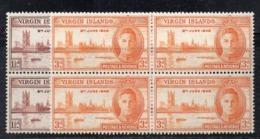 QUS - BRITISH VIRGIN ISLANDS 1946 , Serie Yvert N. 86/87 Quartina  ***  MNH VITTORIA - British Virgin Islands