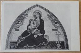 Basilica Di S. Domenico Maggiore Napoli Lunetta Trecentesca La Vergine Col Bambino Di Simone Martini Di Siena - Gemälde, Glasmalereien & Statuen