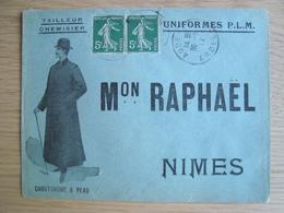 ENVELOPPE Mon RAPHAEL TAILLEUR CHEMISIER UNIFORME P.L.M NIMES - Marcophilie (Lettres)
