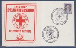 = Carte Postale XIIème Congrès National Equipes Secouristes 25è Anniversaire Croix Rouge, Paris 25-26 Mars 67 N°1351A - Marcophilie (Lettres)
