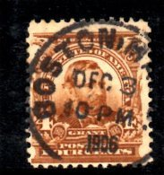 Y1232 - STATI UNITI USA 1901   , 4 Cent Yvert N. 147 Usato . Ordinaria - Oblitérés