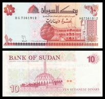BILLET SOUDAN 10 Dinars - Soudan