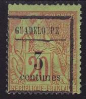 """N°  3 Neuf **- Variété """"Filet Brisé""""  - Voir Verso & Descriptif - - Guadalupe (1884-1947)"""