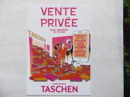 CPM Publicité Edition TASCHEN Invitation Vente Privée Illustration Avec Chien Bouledogue - Pubblicitari