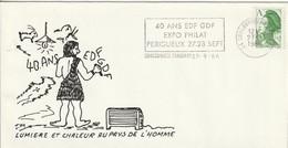 """Env. De """"Coulounieix Chamiers - 24, Dordogne"""" Du 27-09-1986, """"1986 40 Ans De Nationalisation à EDF GDF"""" Sur YT 2423 - Marcophilie (Lettres)"""