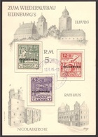 Germania, Serie Soprastampata Eilenburg  Del 1946 Su Cartolina Ufficiale   -A15 - Zone Soviétique