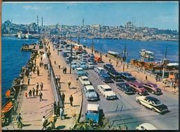 °°° 15442 - TURKEY - ISTANBUL - GALATA KOPRUSU - 1967 With Stamps °°° - Turquie
