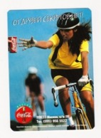 1997 -1998 Sport RUSSIA  Russie Drink Coca Cola  Advertising -  Sport Girl Bike Bicycle - Calendarios