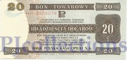 POLAND 20 DOLLARS 1979 PICK FX44 UNC RARE - Pologne