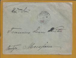 Carta De Santa Luzia, Tavira, Algarve, 1917. Stamp Ceres 2 1/2c. Messjana. Letter From Santa Luzia, Tavira, Algarve. 2sc - 1910 - ... Repubblica