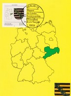 Germany Maximum Card 1994: Coat Of Arms;  Maps; Sachsen - Heraldik, Wappen