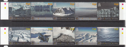2012 British Antarctic Territory Glaciers Icesheets Geology Complete Set Of 2 Strips Of 5  MNH - Ungebraucht