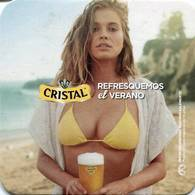 Lote CH12, Chile, Posavaso, Coaster, Cristal, Modelo, Vaso - Portavasos