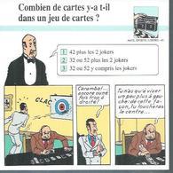 "FICHE ARTS, SPORTS, LOISIRS  N° 43  "" TINTIN  ""  ( Déssin: HERGE )      L'OREILLE CASSEE  - 15X15 - Hergé"