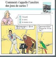 "FICHE ARTS, SPORTS, LOISIRS  N° 44  "" TINTIN  ""  ( Déssin: HERGE )      L'OREILLE CASSEE  - 15X15 - Hergé"