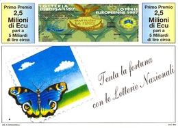 Lotto Di N. 2 CARTOLINE:  Lotterie Nazionali - Lotteria Europea  1997  E  1998. - Billets De Loterie