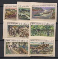 North Vietnam - 1969 - N°Yv. 629 à 634 - Exploitation Forêts - Non Dentelé / Imperf. - Neuf Luxe ** / MNH / Postfrisch - Vietnam