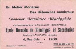 BU 1758 /   BUVARD   - ECOLE NORMALE DE STENOTYPIE ET SECRETARIAT  LYON - Unclassified