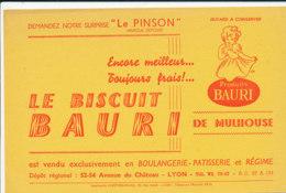 BU 1776 /   BUVARD    - LE BISCUIT BAURI  DE MULHOUSE - Cake & Candy