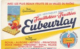 BU 1777 /   BUVARD    -  GAUFRETTES  EUBEURLAY   AMPUIS (RHONE) - Cake & Candy
