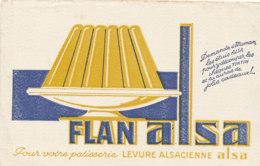 BU 1785 /   BUVARD    - FLAN ALSA - Cake & Candy