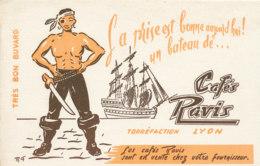 BU 1808  /   BUVARD     -  CAFES RAVIS  LYON - Café & Thé