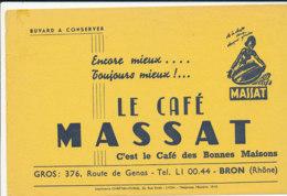 BU 1811  /   BUVARD     -  LE CAFE MASSAT   BRON  (RHONE) - Café & Thé