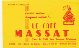 BU 1812  /   BUVARD     -  LE CAFE MASSAT   BRON  (RHONE) - Café & Thé