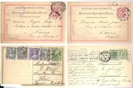 1902/1908 - 6 Cartes Entier Postal Stationery Pour NANCY & VESOUL (France) - Enteros Postales
