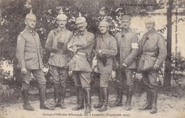 LUNEVILLE - Groupe D'Officiers Allemands Fait à Lunéville (Septembre 1914) - Luneville