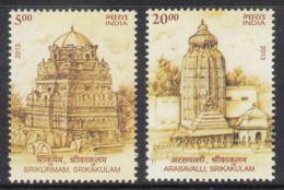 India MNH 2019, Set Of 2, Architectural Heritage Arasavalli ( Sun Temple) Astronomy Sun Rays , Monument, - India