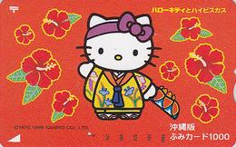 Carte Prépayée Japon - COMICS - CHAT HELLO KITTY - CAT Japan Prepaid Fumi Card - KATZE - 5123 - Comics